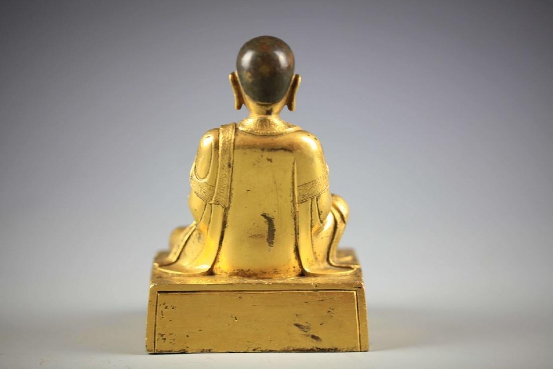 China, Gilt Bronze Figure of A Buddha - 3