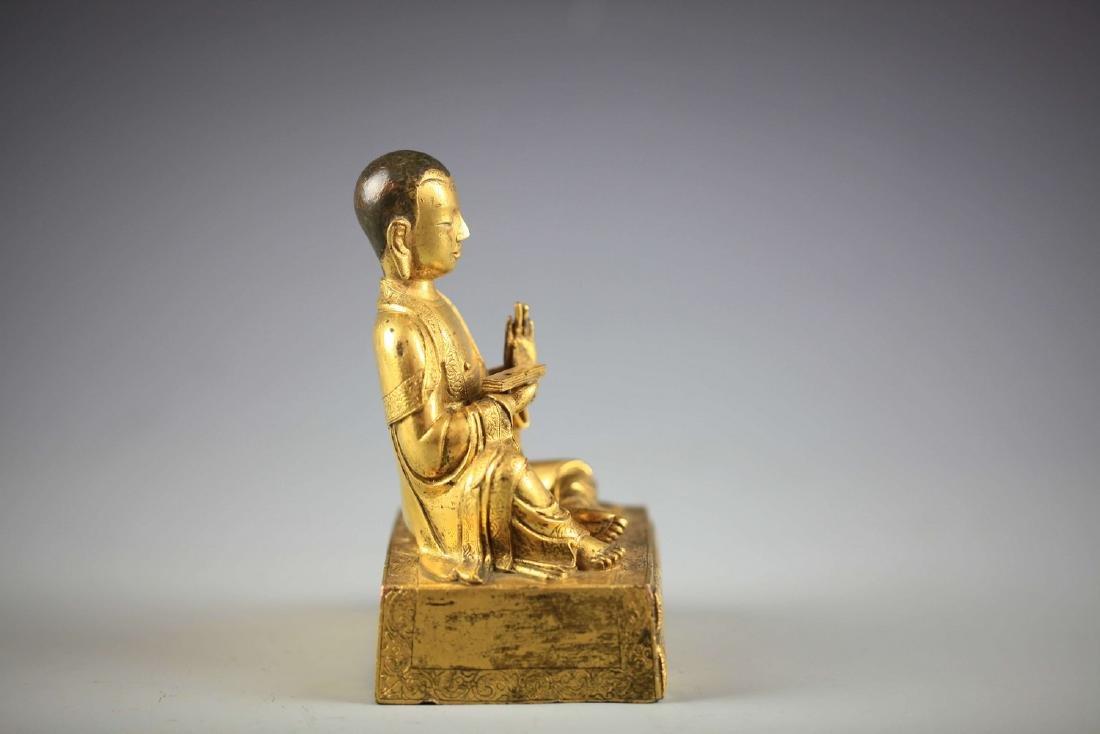 China, Gilt Bronze Figure of A Buddha - 4