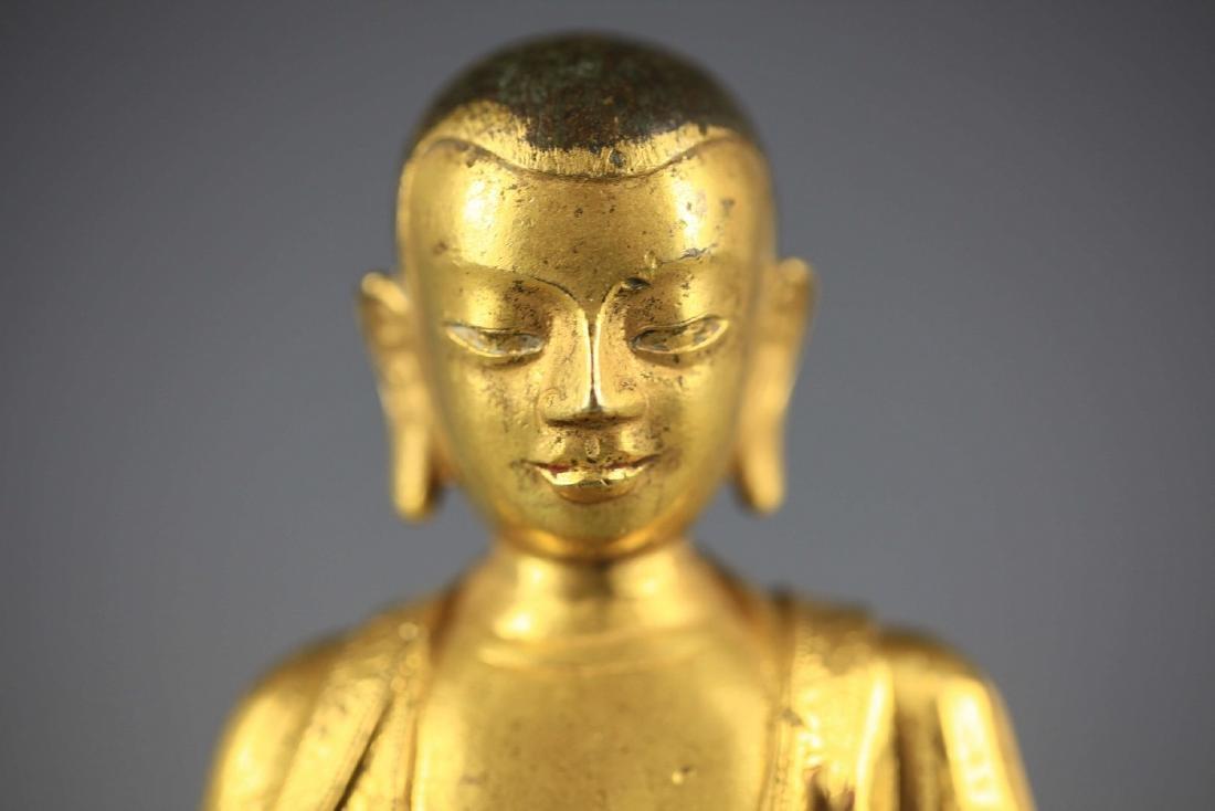 China, Gilt Bronze Figure of A Buddha - 7