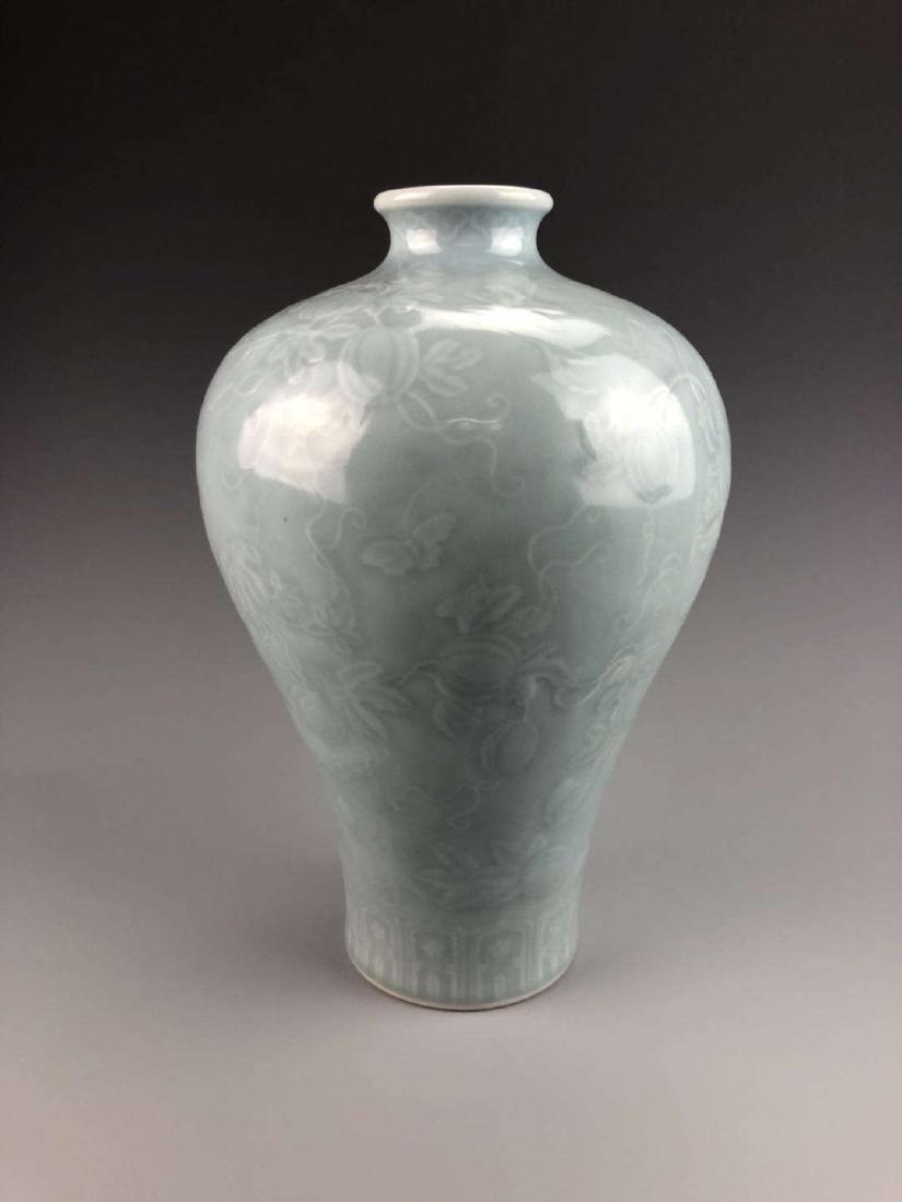 China, Green Glaze Meiping Vase