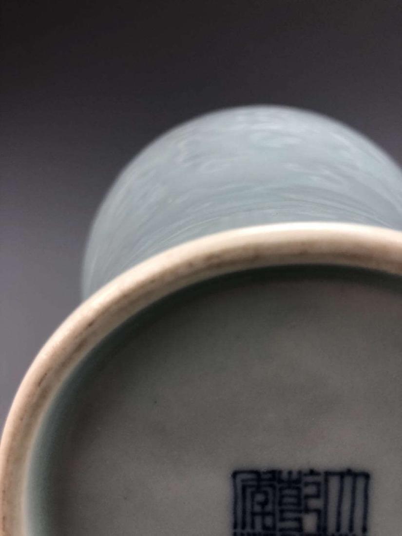 China, Green Glaze Meiping Vase - 3