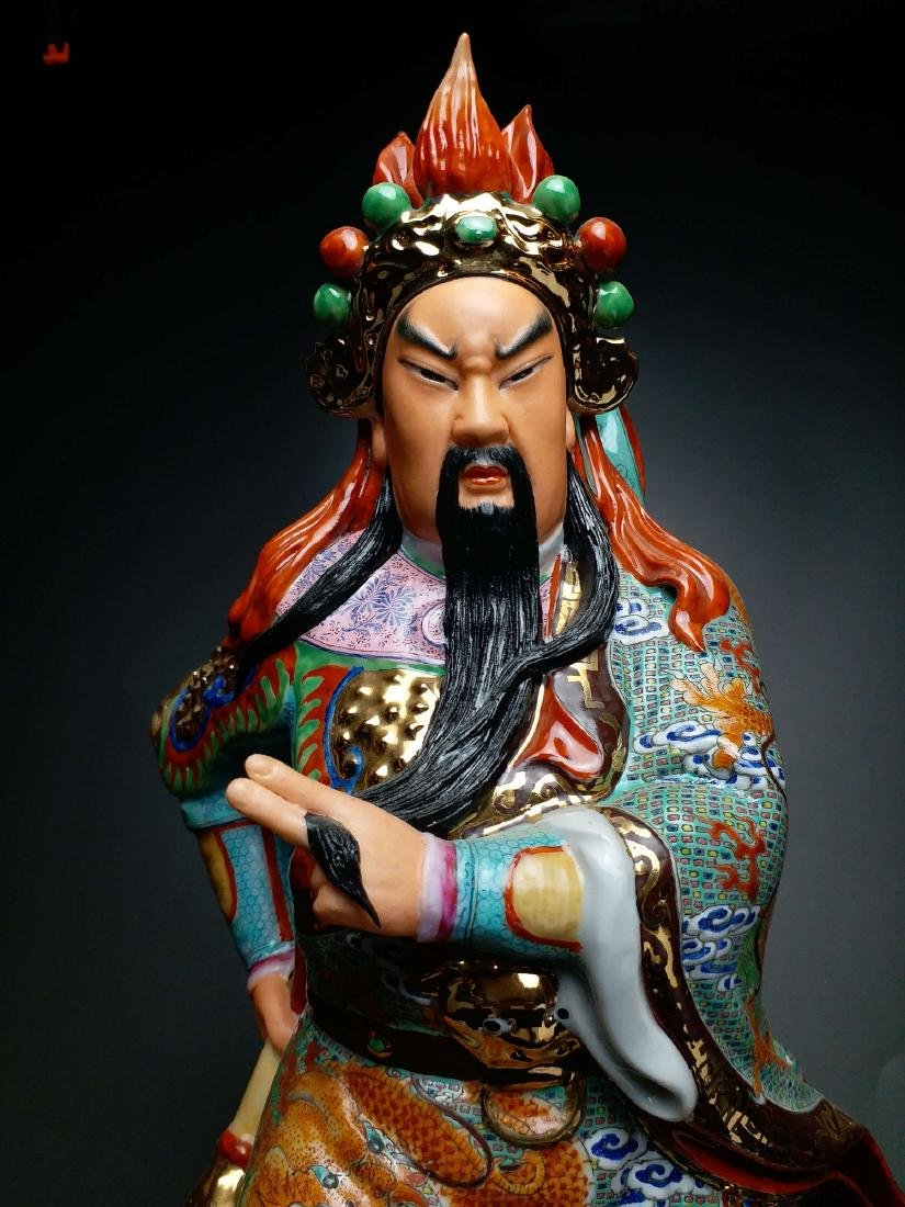 China, Famille-Rose,statue of GuanGong - 3
