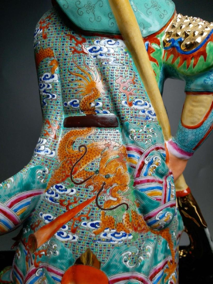 China, Famille-Rose,statue of GuanGong - 4