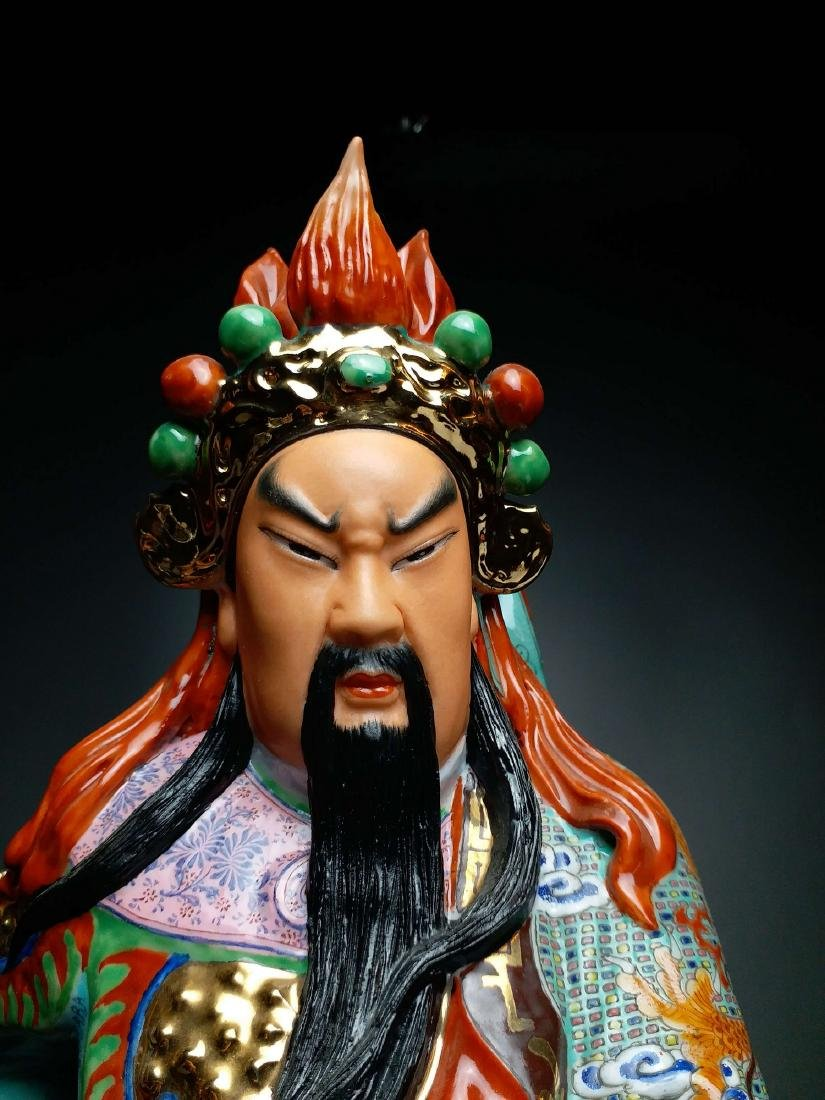 China, Famille-Rose,statue of GuanGong - 5
