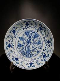 China,blue and white,plate