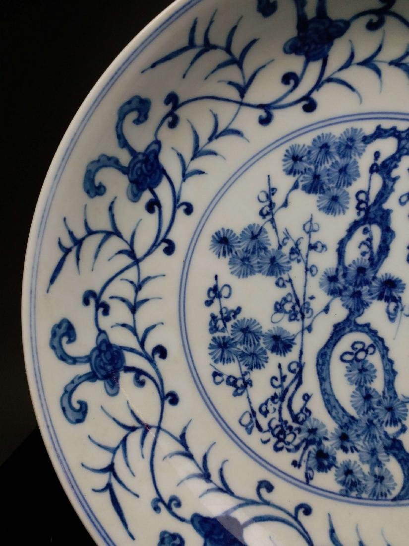 China,blue and white,plate - 4