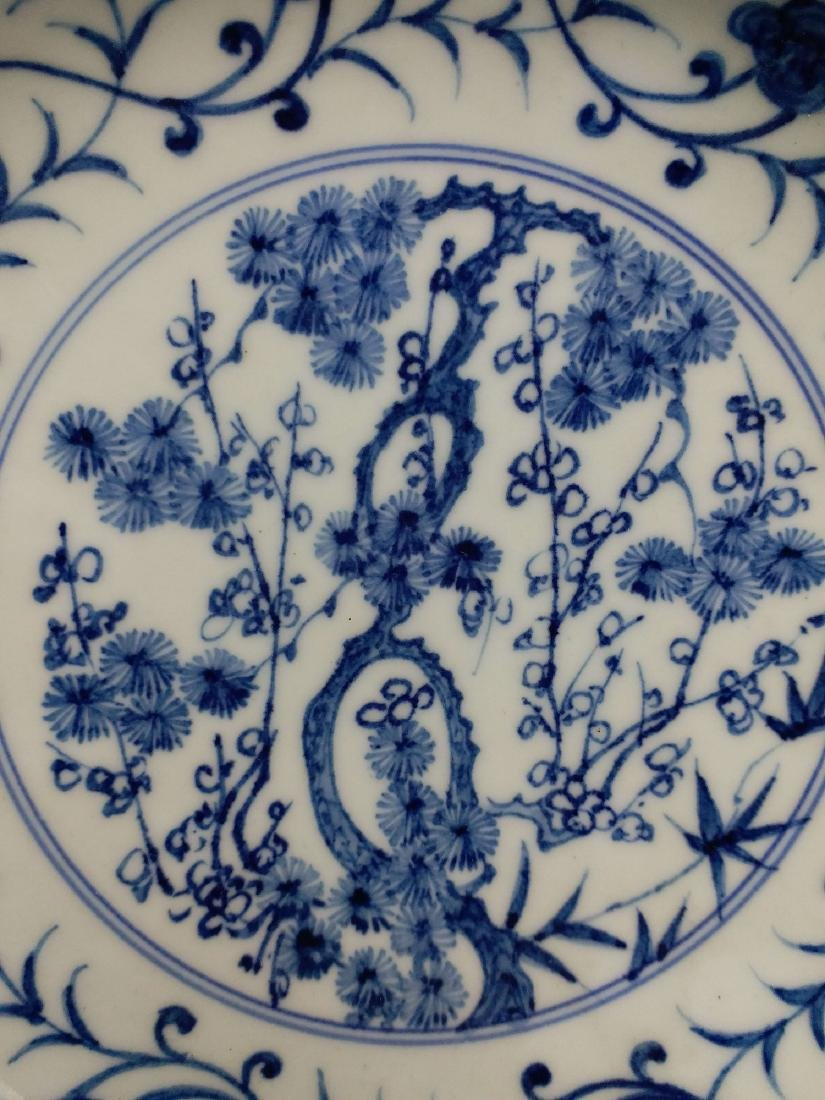 China,blue and white,plate - 5