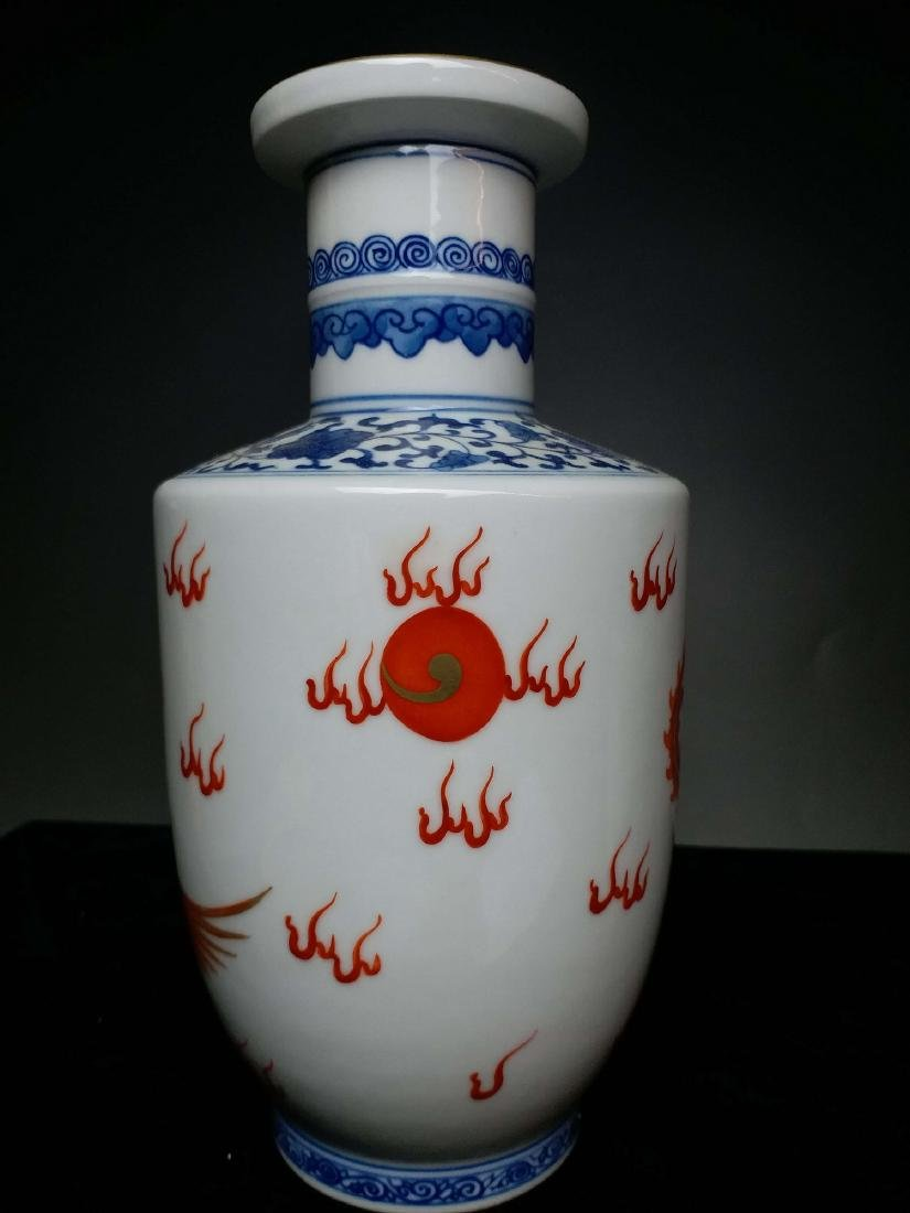 China,Blue and White, blue and white Vitriol red dragon - 4
