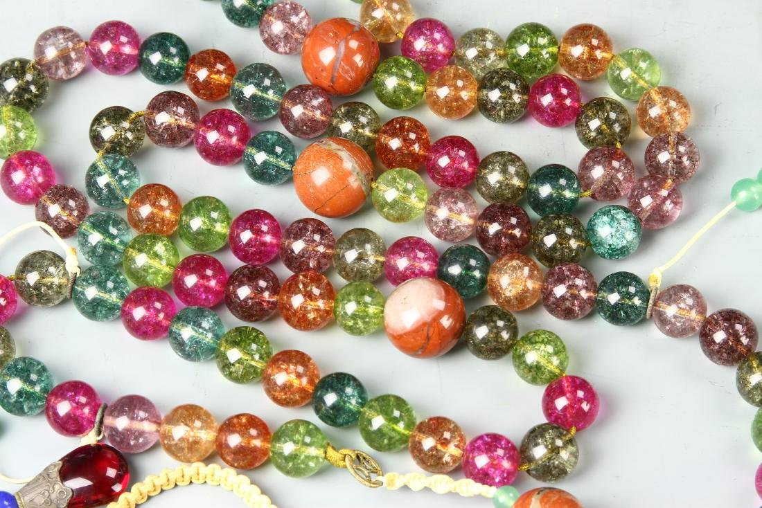 Chinese Glass Beaded Court Necklace - 2