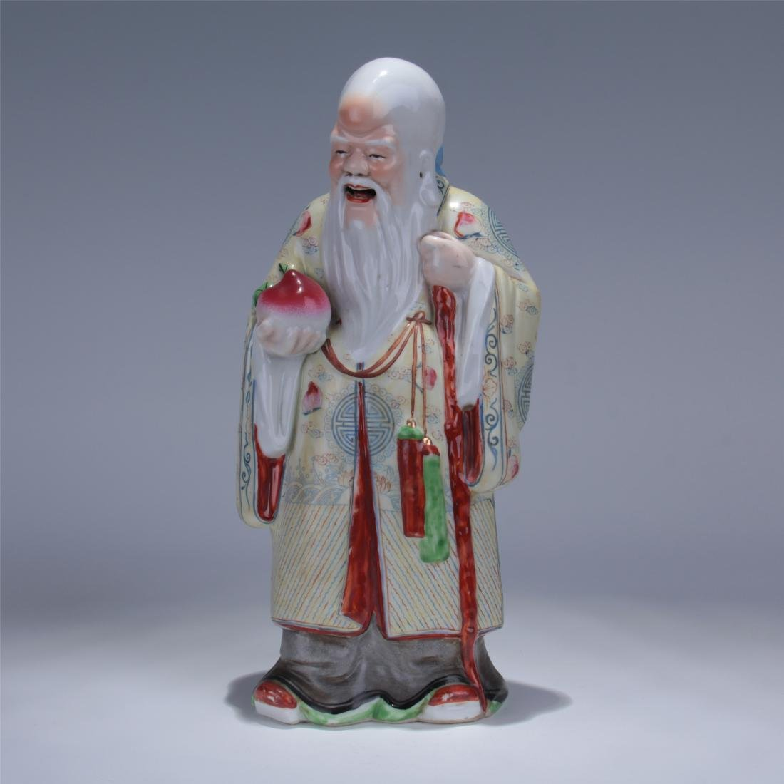 CHINESE FAMILLE ROSE PORCELAIN FIGURE - SHOUXING
