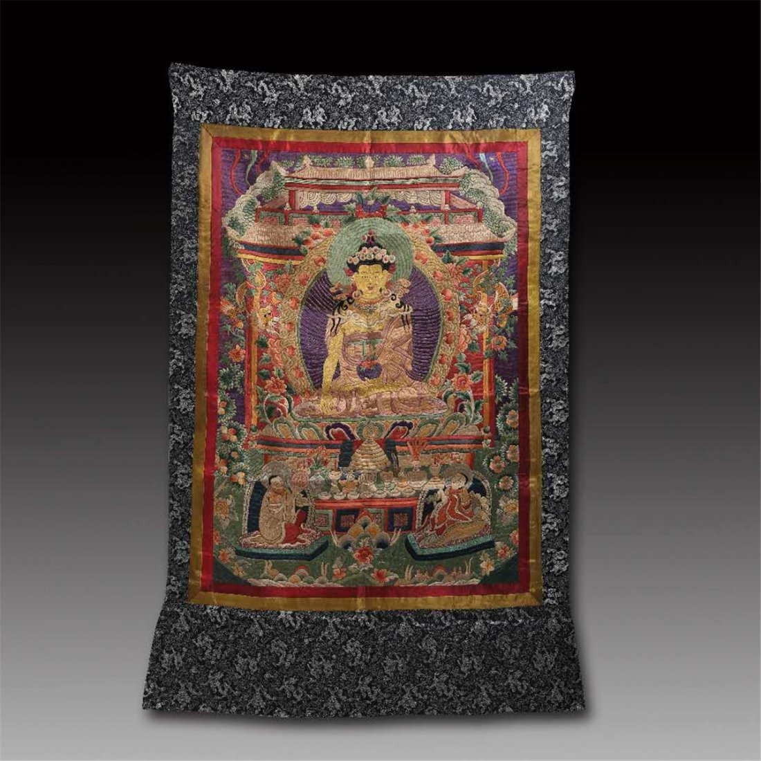 CHINESE SILK EMBROIDERY THANGKA