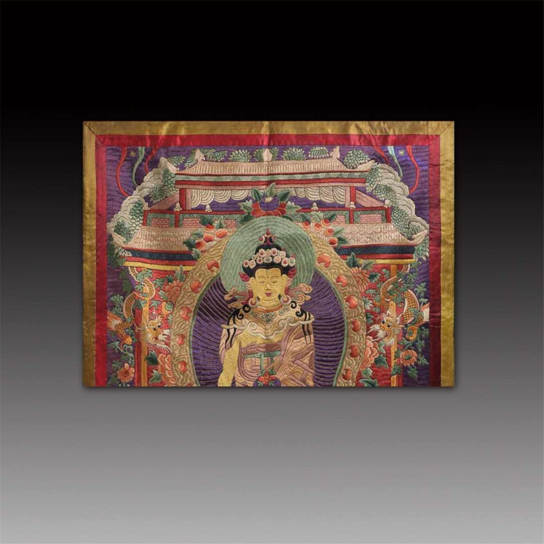 CHINESE SILK EMBROIDERY THANGKA - 2