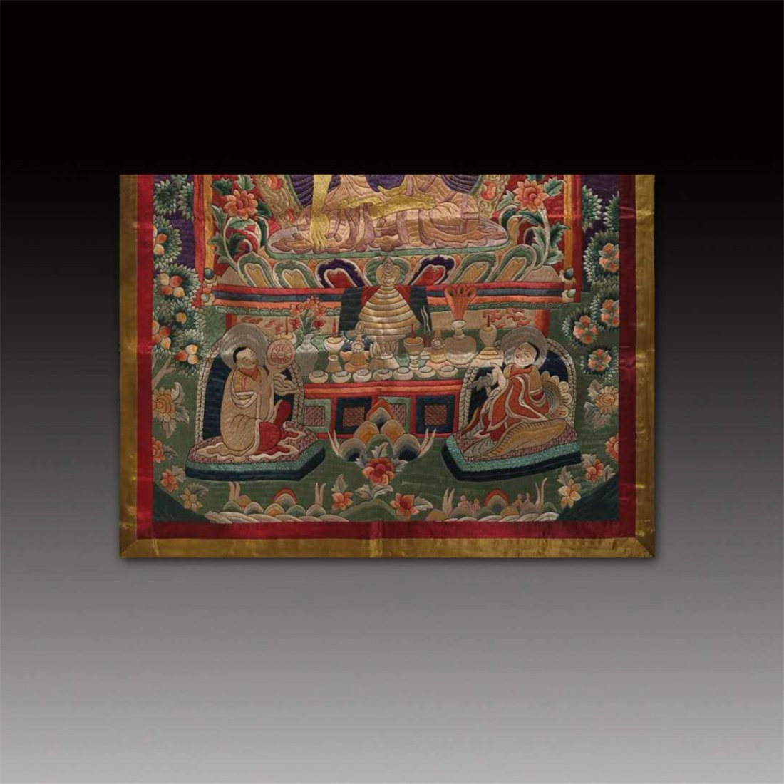 CHINESE SILK EMBROIDERY THANGKA - 3