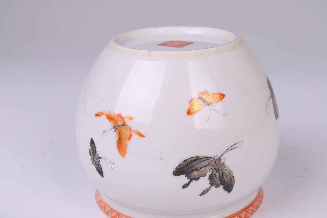 CHINESE FAMILLE ROSE PORCELAIN JAR - 10