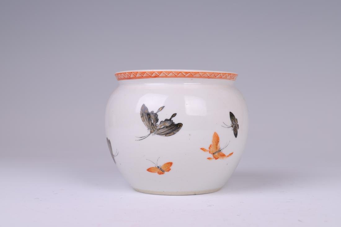 CHINESE FAMILLE ROSE PORCELAIN JAR - 3