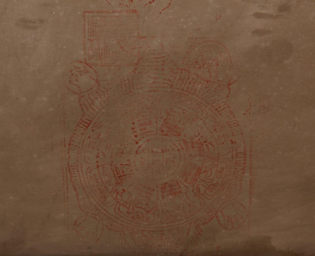 TIBETAN THANGKA OF SEATED BUDDHAS - 10