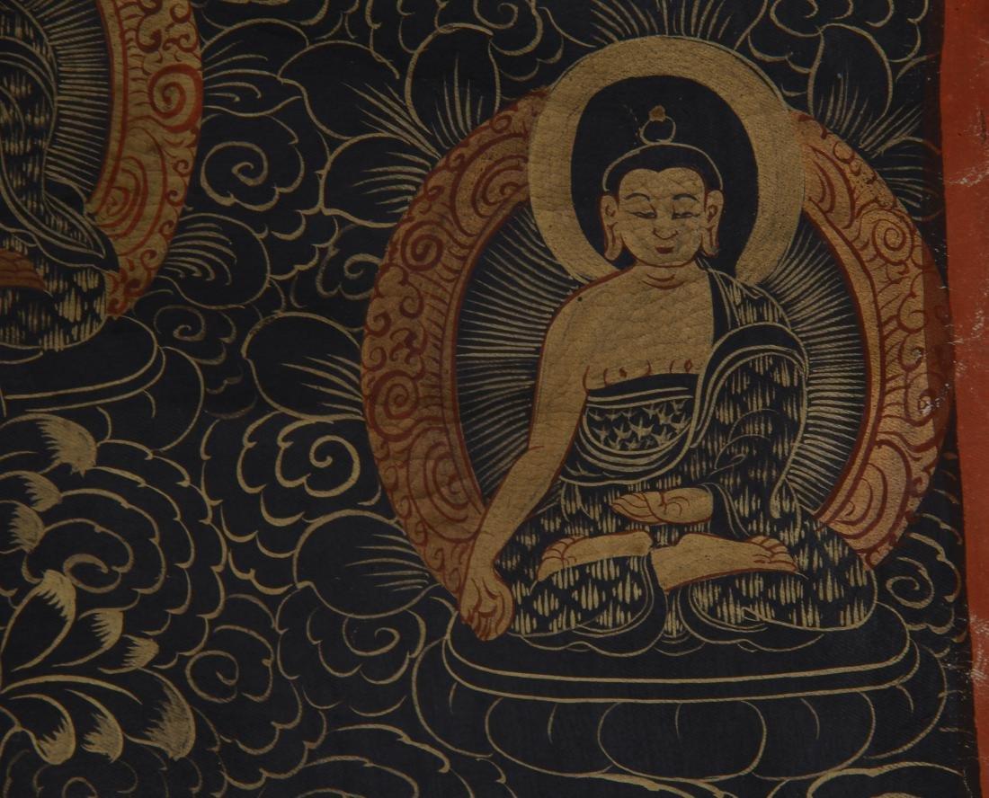 TIBETAN THANGKA OF SEATED BUDDHAS - 5