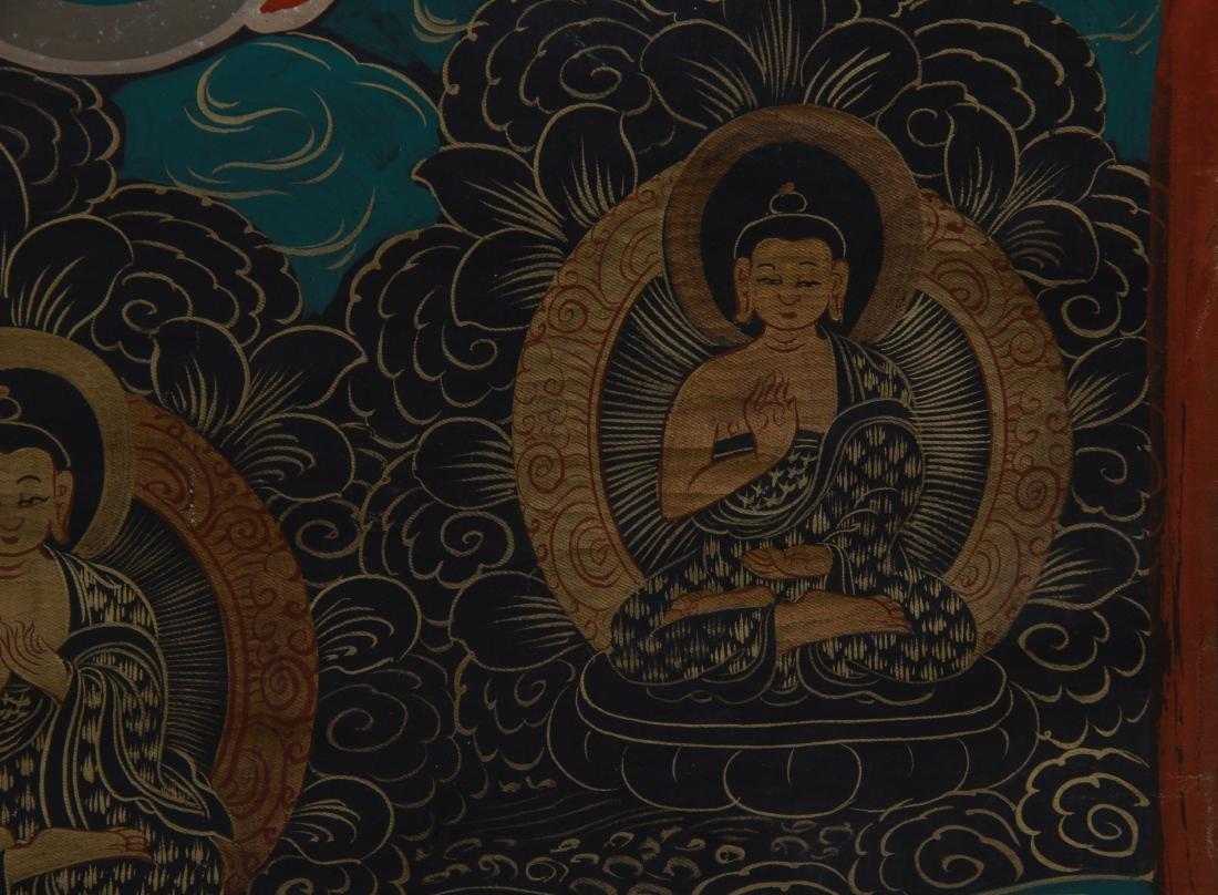 TIBETAN THANGKA OF SEATED BUDDHAS - 6