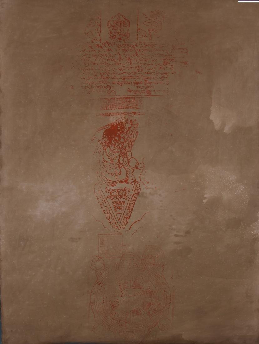 TIBETAN THANGKA OF SEATED BUDDHAS - 8