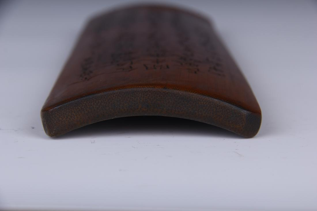 CARVED BAMBOO PAPERWEIGHT WITH SCRIPTS - 7