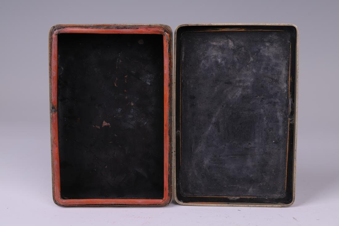 A COPPER INKPAD BOX WITH INSCRIPTION - 7