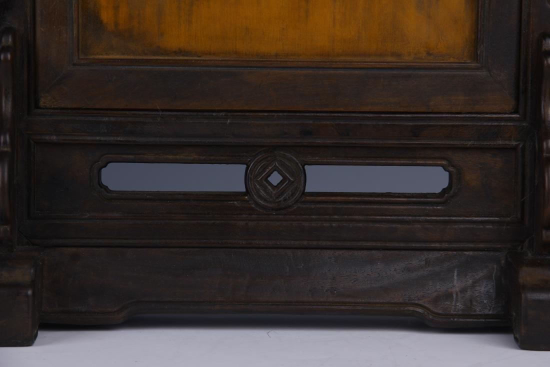 BAMBOO INLAID HUANGYANG WOOD TABLE SCREEN - 8