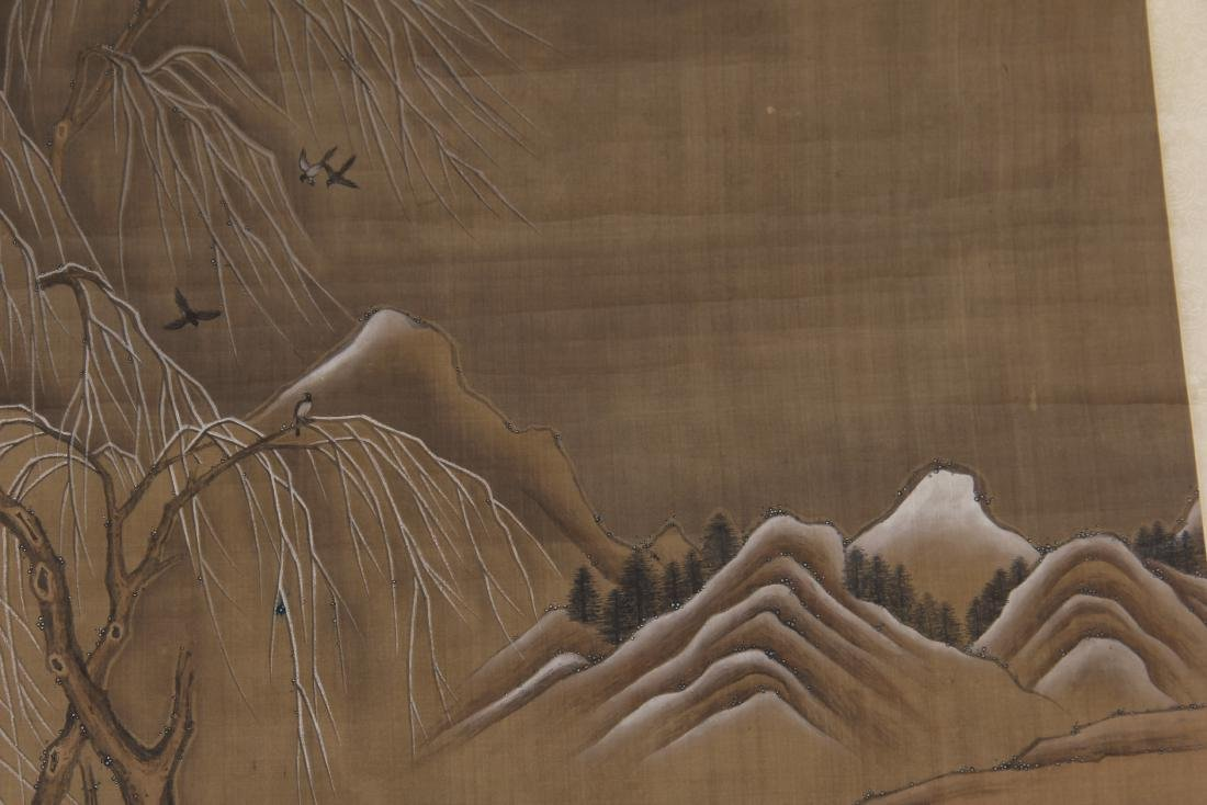 CHINESE PAINTING OF BEAUTIES HORSE RIDING - 2