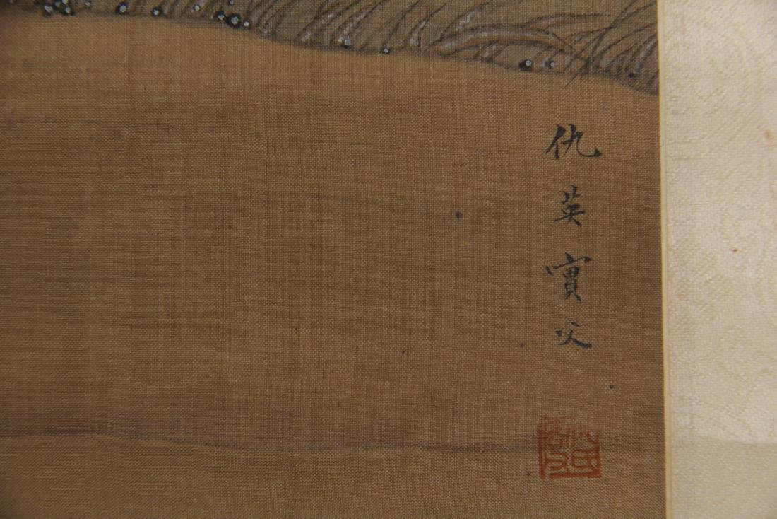CHINESE PAINTING OF BEAUTIES HORSE RIDING - 9