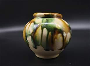 CHINESE SANCAI POTTERY JAR