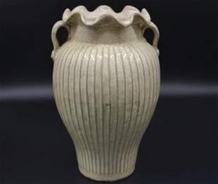 CHINESE WHITE GLAZED WATER JAR