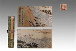 HAND SCROLL PAINTING OF LANDSCAPE, LU YANSHAO