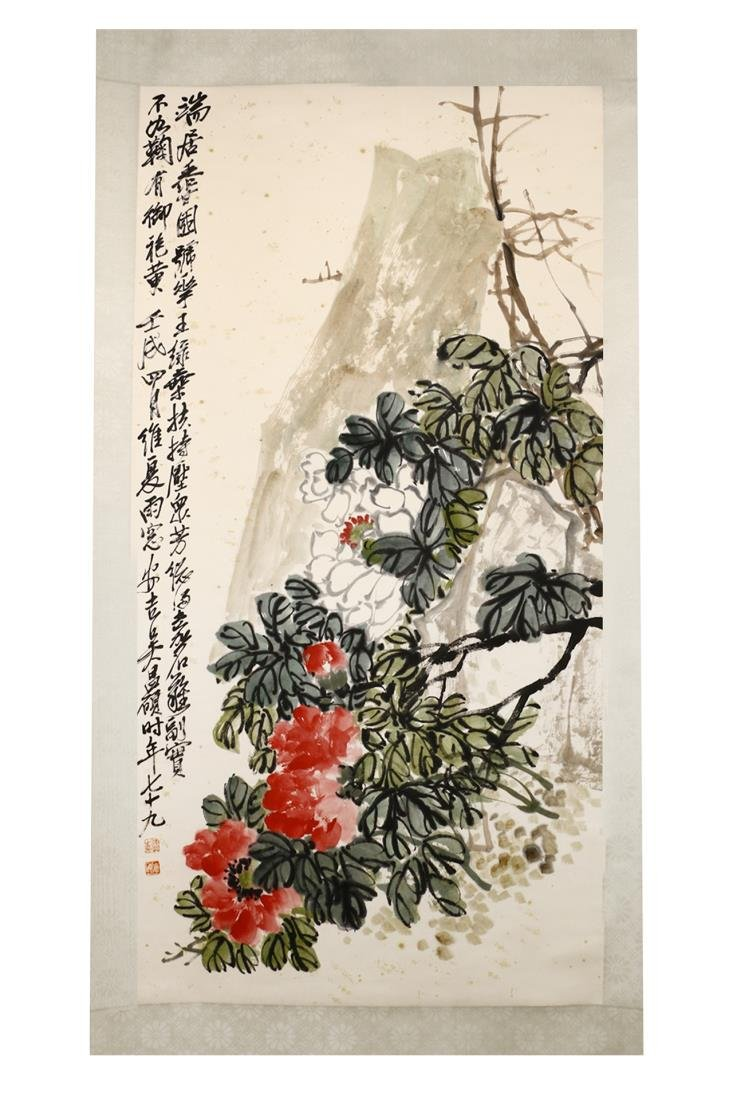 CHINESE PAINTING OF FLOWER, WU CHANGSHUO