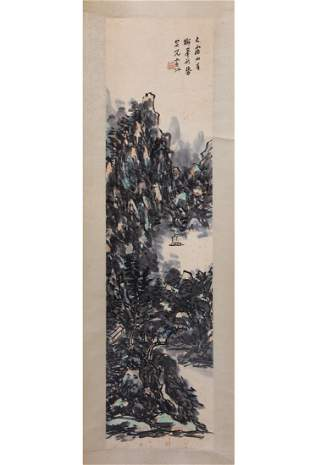 CHINESE PAINTING OF MOUNTAIN LANDSCAPE