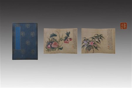CHINESE PAINTING ALBUM OF VARIOUS FLOWERS