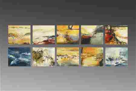 ABSTRACT  PAINTING ALBUM OF LANDSCAPE