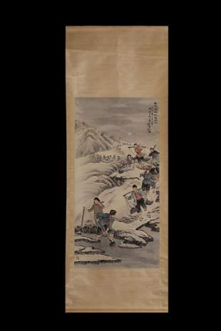 CHINESE NARRATIVE FIGURAL PAINTING