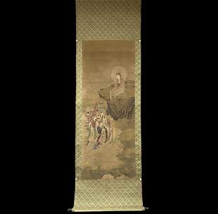 AN ANONYMOUS PAINTING OF GUANYIN AND IMMORTALS