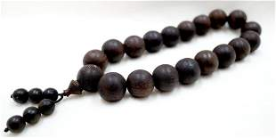 19 QINAN EAGLEWOOD BEADS PRAYER'S BRACELET