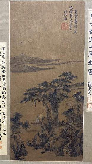 A PAINTING OF FISHING ON LAKE, TANG YIN