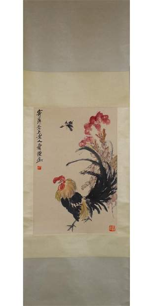 CHINESE PAINTING OF A ROOSTER, QI BAISHI
