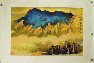 CHINESE PAINTING OF MOUNTAIN VIEW, CHANG DAI-CHIEN