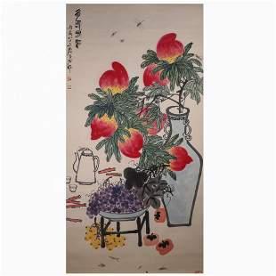 CHINESE PAINTING OF FRUITS, QI BAISHI