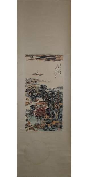 CHINESE PAINTING OF RIVERSIDE SCENERY, LU YANSHAO