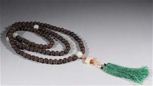 EAGLEWOOD CARVING PRAYER'S BEADS