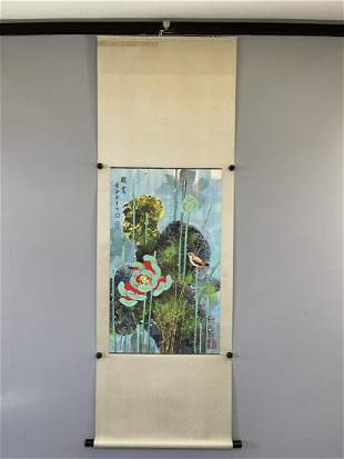 A CHINESE PAINTING OF FLOWER & BIRD, HUANG YONGYU