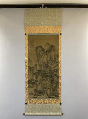 A CHINESEPAINTING OF LANDSCAPE, TANG YIN