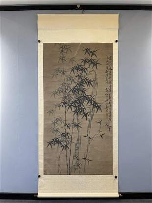 A CHINESE INK PAINTING OF BAMBOO, ZHENG BANQIAO