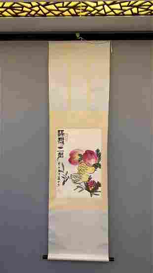 A CHINESE PAINTING OF VARIOUS FRUITS, QI BAISHI