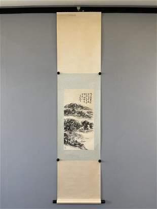 AN INK PAINTING OF LANDSCAPE, HUANG BINHONG