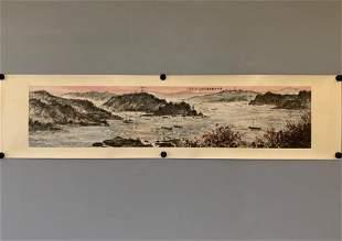 HORIZONTAL PAINTING OF MOUNTAIN AND SEA, FU BAOSHI